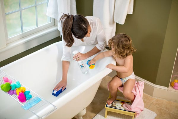 Force of Nature is a natural disinfectant and cleaner for bathtubs