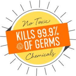 kills 99.9 percent of germs