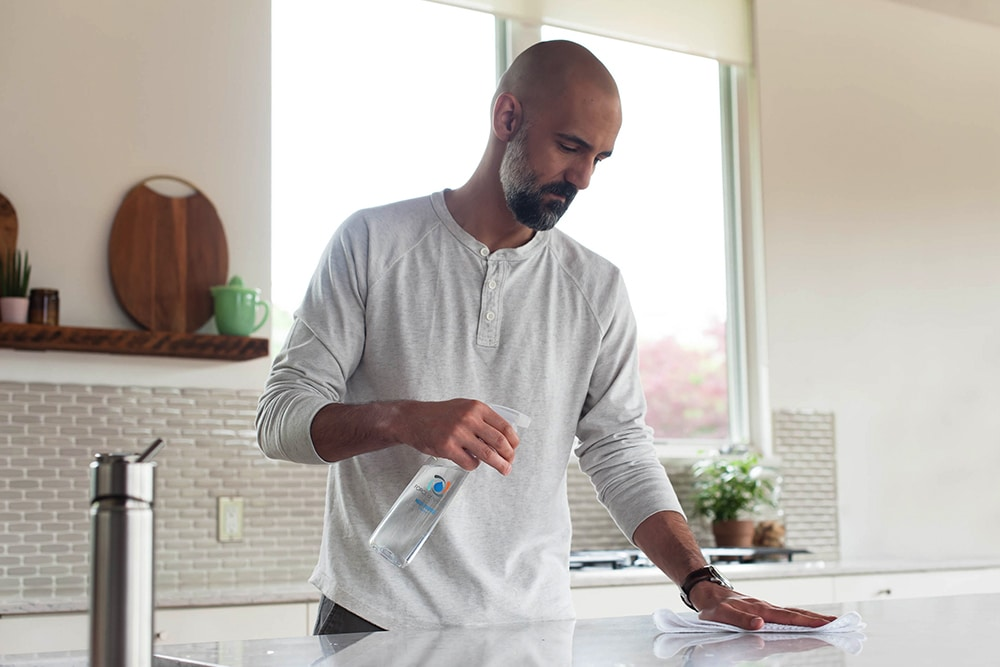 Create a disinfectant at home during the disinfectant shortage