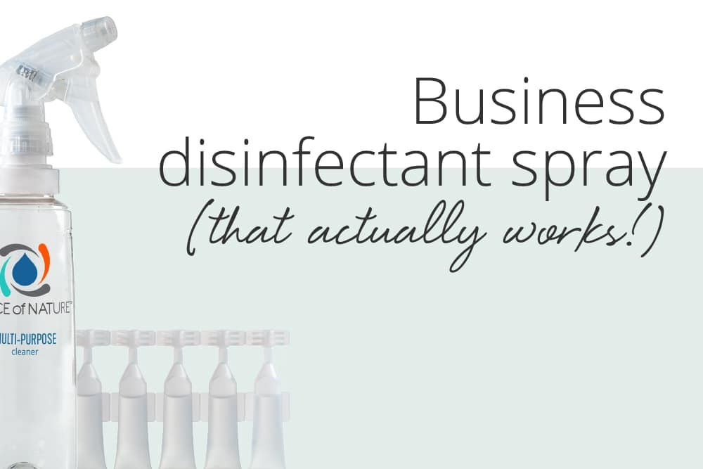 A Business Disinfecting Spray That Actually Works + You Can Make it On-Demand