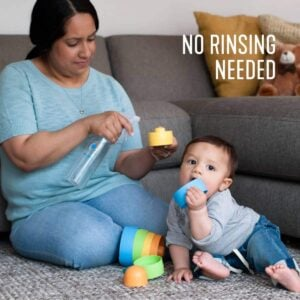 Nontoxic disinfectant for baby toys